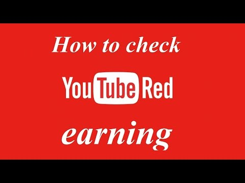 How to view or check YouTube red earning in youtube analytics