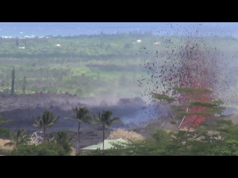 LIVE: Kilauea fissure eruption, massive lava geyser - Hawaii