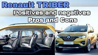 Renault TRIBER POSITIVES AND NEGATIVES