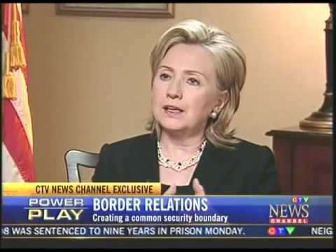 Clinton Asked About Possible Customs Union With Canada- Downplays Current Efforts