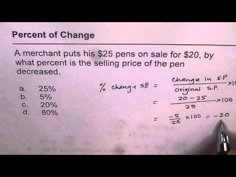 How to get Percent decrease in Sale Price