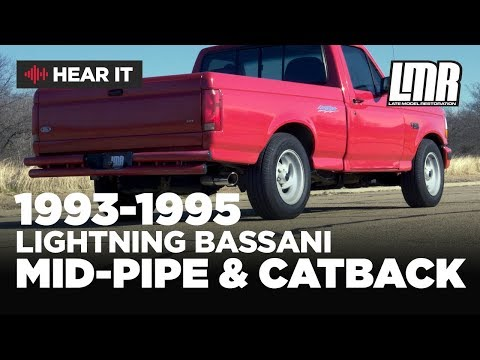 1993-1995 Ford SVT Lightning Bassani Mid-Pipe & Cat Back Exhaust - Sound Clips
