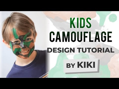 Kids Camouflage Face Painting Tutorial