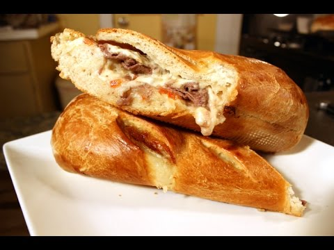 Philly Cheese Steak Stuffed French Bread