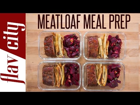 How to Make Meatloaf - Healthy Meatloaf Recipe - Beef Meal Prep