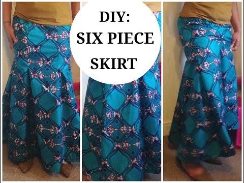 DIY: SIX PIECE SKIRT PATTERN (EASY) MERMAID SKIRT PART 1