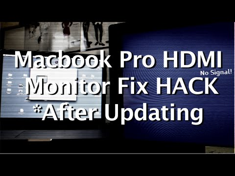 Macbook Pro to HDMI External Monitor Fix HACK *After Updating