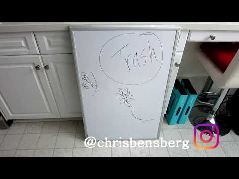 How To Remove Permanent Marker From A Dry Erase Whiteboard!!