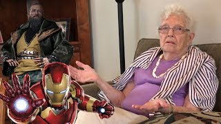 Showing My Grandma Iron Man 3 For The First Time (Supercut!)