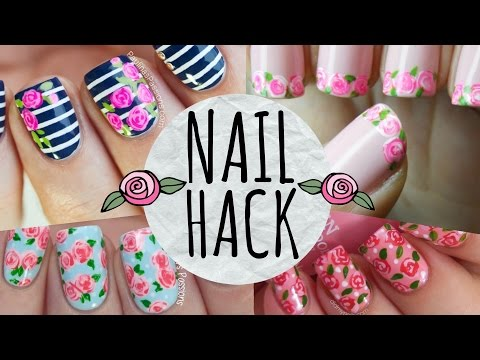 NAIL HACK: Cheat Your Way to PERFECT Roses!