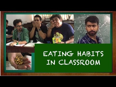 Eating habits in classroom