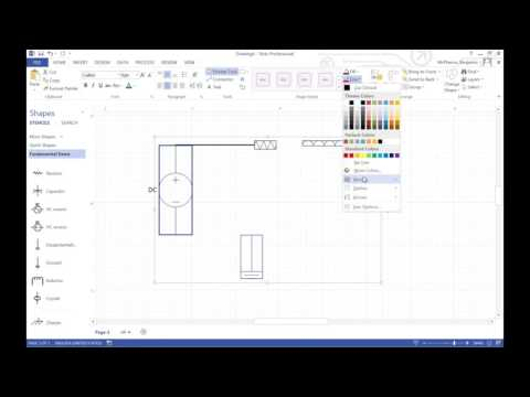 Making a Circuit in Visio