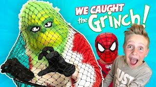GRINCH MASTER Caught! (Board Game Challenge Plan + Spider-Man Grinch)   KIDCITY