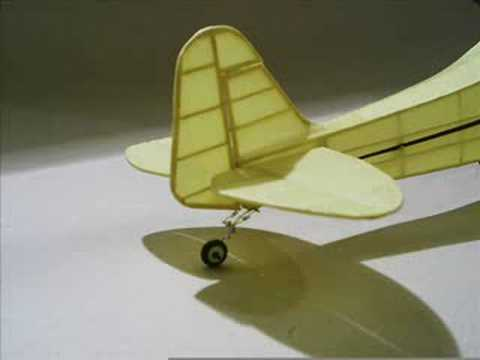 Rubber powered scale model airplanes