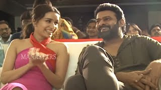 Prabhas and Shraddha Kapoor Beautiful Visuals @ Saaho Media Meet | Manastars