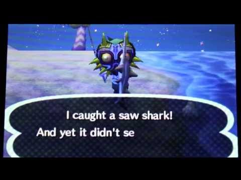 Animal Crossing: New Leaf - SAW SHARK!!!