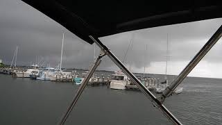 Docking in 30 knot wind gusts