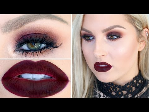 Seductive Burgundy Eye & Lip Makeup! ♡ Get Ready With Me