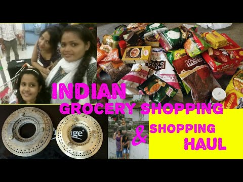 INDIAN GROCERY SHOPPING AND GROCERY SHOPPING HAUL// how to clean gas burners