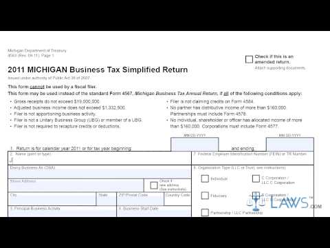 Form 4583 Business Tax Simplified Return