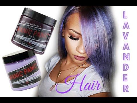 How to: Lavender hair with MANIC PANIC Vegan hair dye