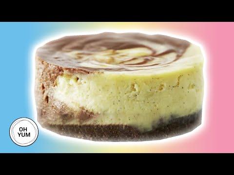 Chocolate Swirl Cheesecakes | Oh Yum With Anna Olson