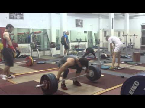 Snatch deadlift 155kg x5