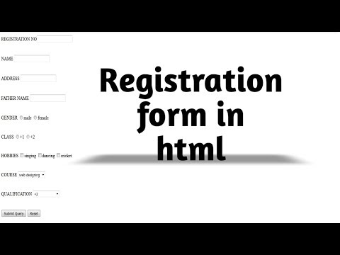 How to Create Registration Form in HTML