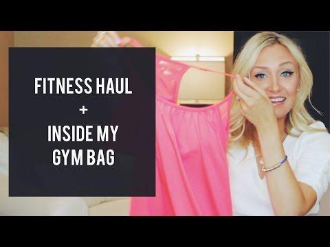 Fitness Haul + Inside My Gym Bag | Lululemon + F21 + Nike | Laura Lee