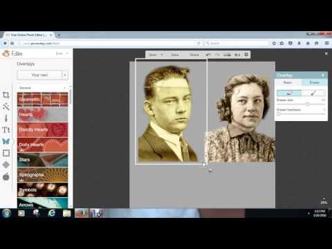 Combining 2 photos using Picmonkey.