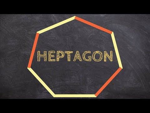 How to find the sum of interior angles for a heptagon