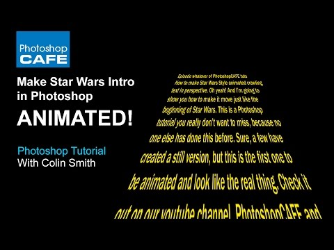 Star Wars intro, perspective text | animation in Photoshop Tutorial