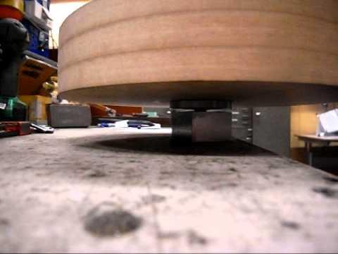 Testing turntable platter bearing