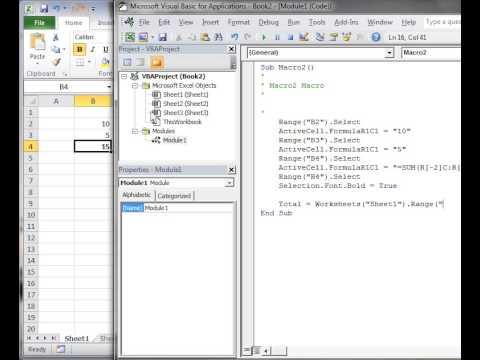Excel VBA 2010 Tutorial 5: Intro to editing VBA code