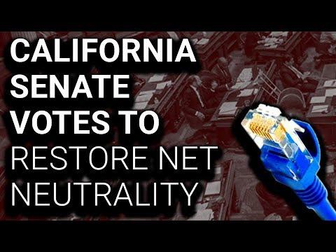 YEP: CA Senate Votes to Restore Net Neutrality