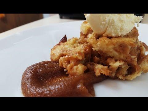 Donut Bread Pudding Easy DIY Dessert w/ Whiskey Peanut butter Sauce   MSK #9