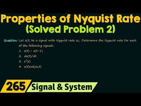 Nyquist Rate (Solved Problem 2)