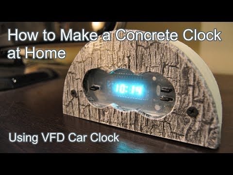 How to Make a Concrete Clock at Home (Using Car or Ebay Clock)