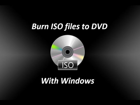 Burn ISO files to DVD Windows Bootable