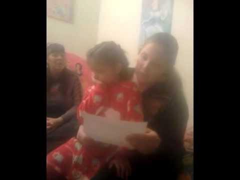 Julia recieves letter from Santa