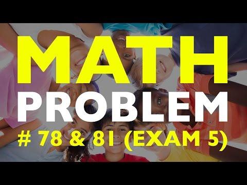 SHSAT Math Problem: #78 & #81 (Exam 5)