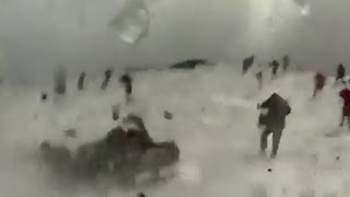 Volcano Erupts On People at Mount Etna   What