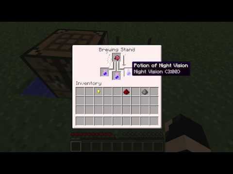 How to make Invisibility and Night Vision Potions in Minecraft