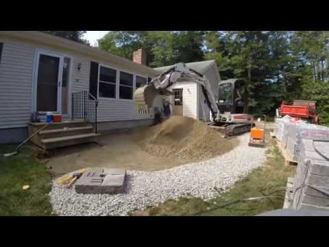Front Yard Paver Patio Construction Time Lapse