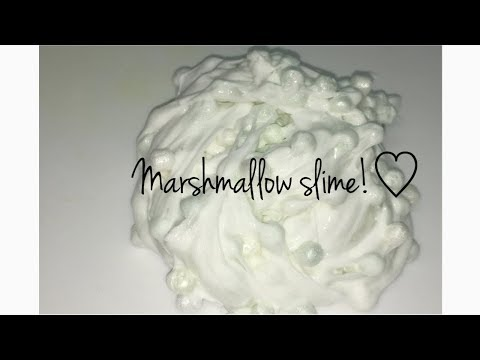 How To Make Marshmallow Bead Slime!