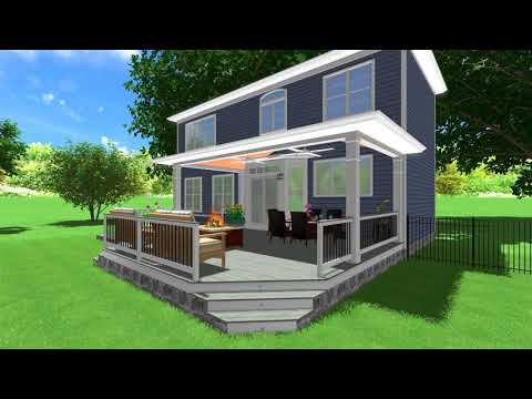 Beautiful Backyard Pavilion & Deck Design