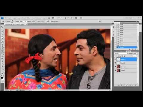 Adobe Photoshop : Face swapping
