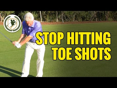 Golf Tips - How To Stop Hitting Toe Shots