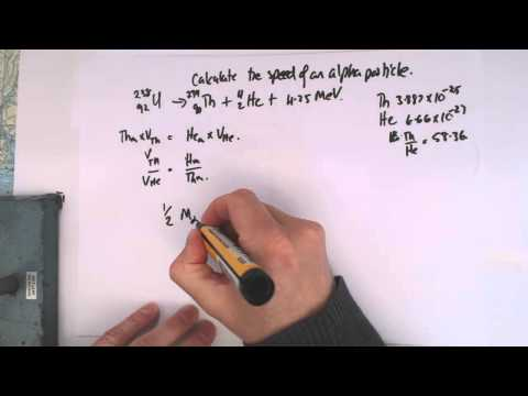 5 calculate the speed of an alpha particle