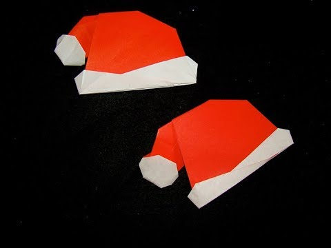 Tutorial: Christmas Hat - Origami Christmas
